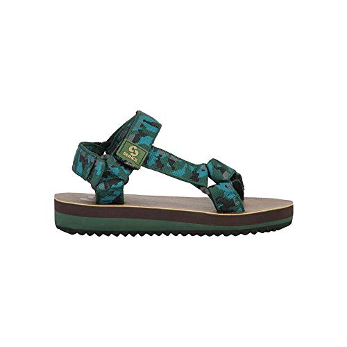 SINNER Jungen Sandalen - Leichte und Bequeme Kinder Schuhe mit Rutschfester Sohle - ideal fur Strandurlaub - Grun 27/28