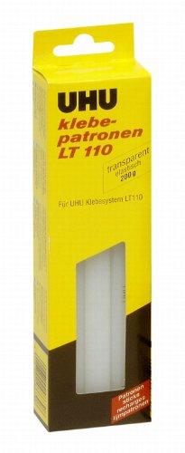 Uhu 48630 - Klebepatronen LT 110, 200 g, transparent