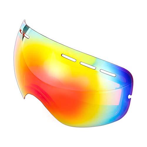 Mira - Ersatzscheibe für Skibrille - Anti-Fog-, Anti-Wind-, UV400-Schutz - Rot Linse - Schnee Rezepte