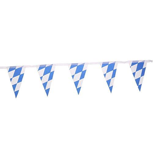 WMING Home 7M Oktoberfest bayerische Scheck Flagge Wimpel Banner Hochzeitsfest Dekoration