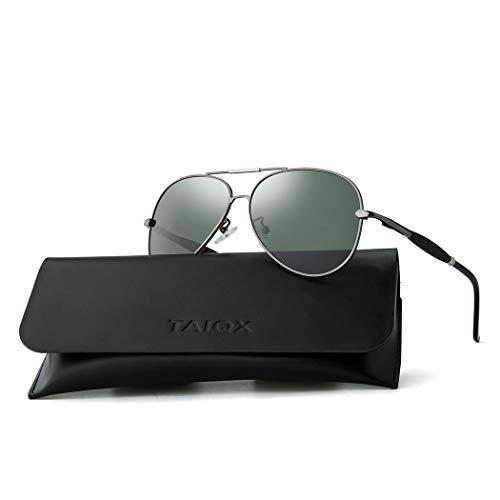 TAIQX Aviator Sunglasses Polarized Lens Metal Frame Lightweight Men Women