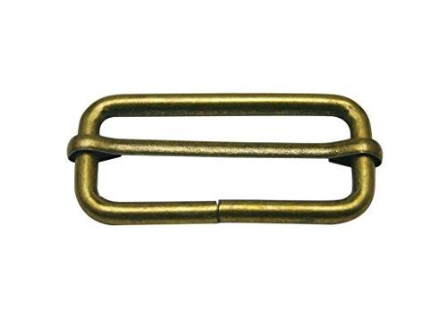 Generic Bronze en Métal Rectangle Boucle 5,1 x 2 cm à l'intérieur taille coulissant pour bar Sangle Keeper Lot de 10
