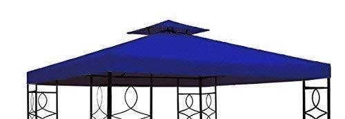 Gravidus Pavillon Ersatzdach Pavillondach mit Kaminabzug wasserfest 3 x 3 m (blau)