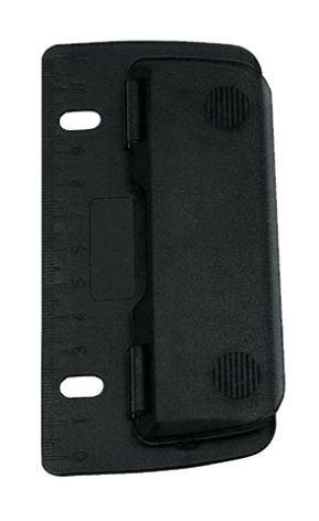 Taschen-Locher 8cm schwarz cm-Einteilung