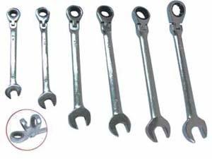 Ratschenringschlüsselsatz 6tlg. 8-19mm Gelenk Ringratsche Maulschlüssel
