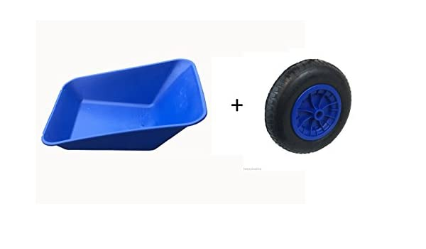 """14/"""" RED WHEEL RED WHEELBARROW REPLACEMENT PLASTIC BODY 85 Litre NO HOLES"""