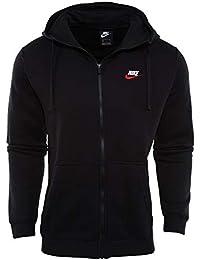 7fafaf832a Nike Sportswear Giacca con Cerniera e Club Hoodie, Uomo, Black/Black -University