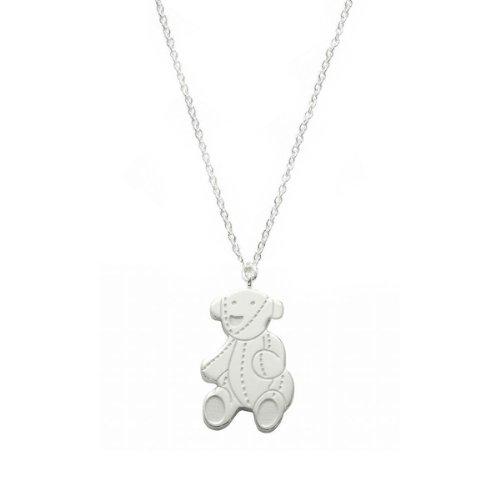 Gucci Kinder und Jugendliche-Halskette mit Teddybäranhänger 925 Sterling Silber YBB258862001