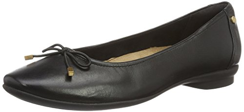Clarks Damen Candra Light Geschlossene Ballerinas, Schwarz (Black Leather), 38 EU