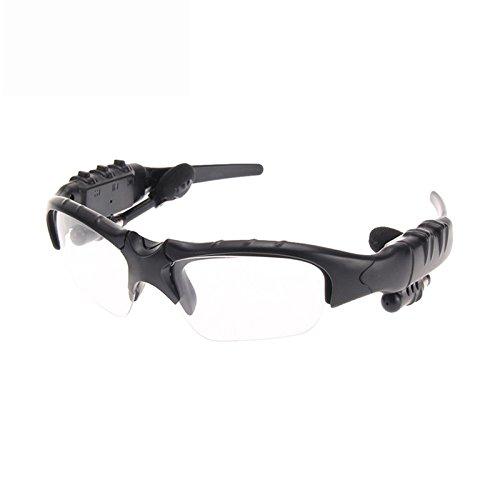 Bluetooth Brillen ollivan Intelligente Rauschunterdrückung One für Zwei Bluetooth-Bluetooth Headset 4.1Stereo Polarisierte Sonnenbrille für Musik Anrufe durchsichtig