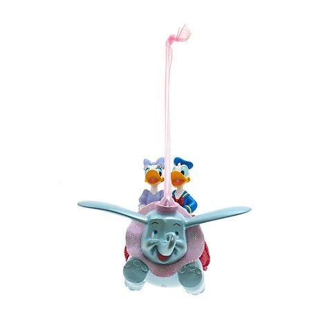 Unbekannt Donald und Daisy Dumbo Dekoration, Disneyland Paris, offizielles Disney Weihnachten Ornament