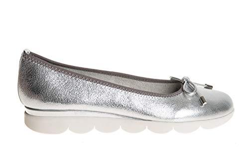 The flexx - ballerina laminata argento con fiocchetto