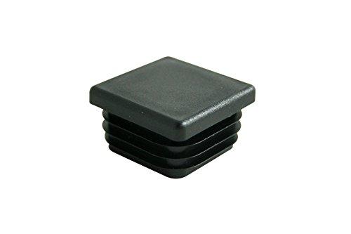 GLEITGUT 4 x Lamellenstopfen 20 x 20 mm Endkappen für Rundrohr Stuhlstopfen eckig