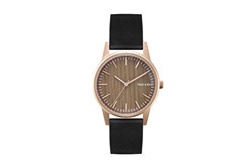 TAKE A SHOT | Armbanduhr | Becky | Zifferblatt aus Holz | Walnussholz | Holzuhr | Rosegold | 36mm