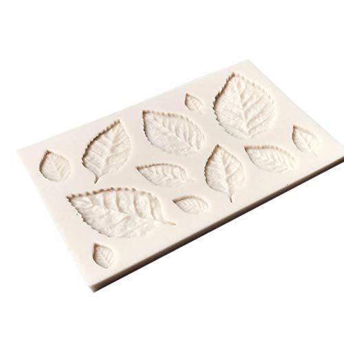 Bontand Kuchen Press Moulding Pie-Form-Backen-Form-Dekor-Baum-Blatt-3D-Küchenhelfer Silikon -