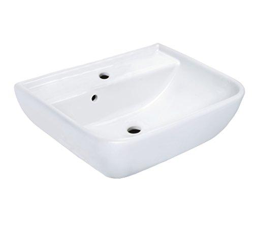 Cornat Handwaschbecken BABEL 45 cm, weiß / Waschtisch / Hängewaschbecken / Waschplatz / Waschschale / Badezimmer / HWBBABBD4500