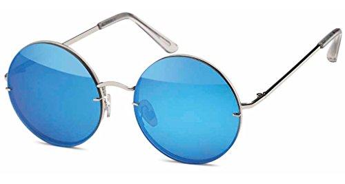 UVprotect® unisex Retro John Lennon Style Sonnenbrille blau W43-11