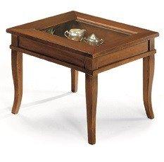 Lo Scrigno Arredamenti, Tavolino quadrato da salotto Classico con vetro
