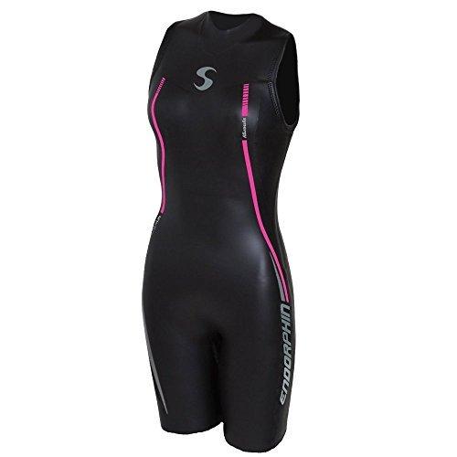 Synergy Triathlon Neoprenanzug - Endorphin für Damen, ärmellos, schnell John Smoothskin Neopren, zum Schwimmen im offenen Wasser, Ironman & USAT zugelassen, schwarz, W3