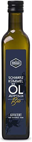 Schwarzkümmelöl BIO   ägyptisch - kaltgepresst - nativ - 100% naturrein   native goods - 500ml
