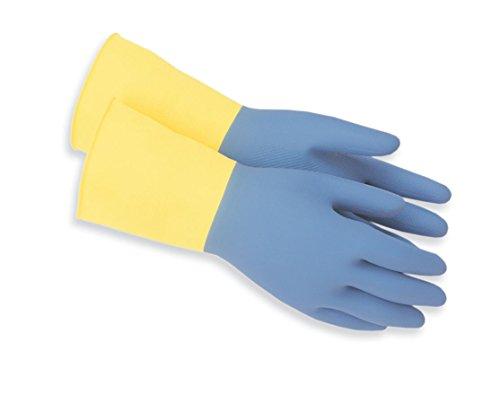 Rot lenken Handschuh 124-l Handlich reinigen Heavy Duty Allgemeine Zwecke Neopren/natur Gummi Handschuhe, Medium, gelb/blau, 1 (Heavy-duty-haushalts-handschuhe)
