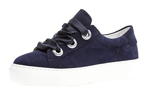 Gabor 23.315 Damen Low-Top Sneaker Schnürschuh- Wechselfußbett, Gr.- 40.5 EU/ 7 UK, Bluette
