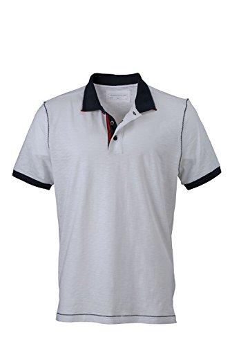 Herren Urban Poloshirt Polo Shirt Hemd White/Navy