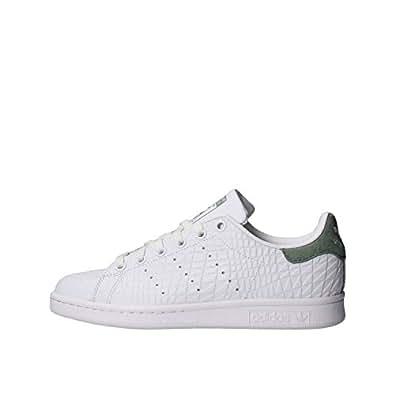 adidas Stan Smith W, Sneaker a Collo Basso Donna, Bianco (Ftwr White/Ftwr White/Trace Green S17), 36 EU