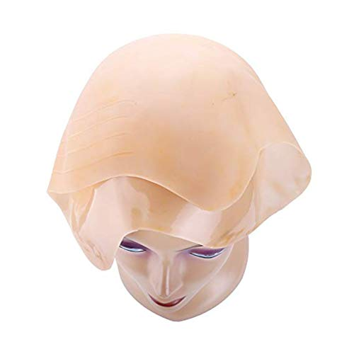 Arichtop Latex Bald Head Cap Props Skinhead Wig-Dekor-Werkzeug-Kostüm Cosplay Partei Halloween Kopfbedeckung Zubehör