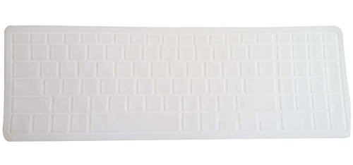 Saco Chiclet Keyboard Skin for Dell Inspiron 5547 15.6 inch Laptop- Transparent