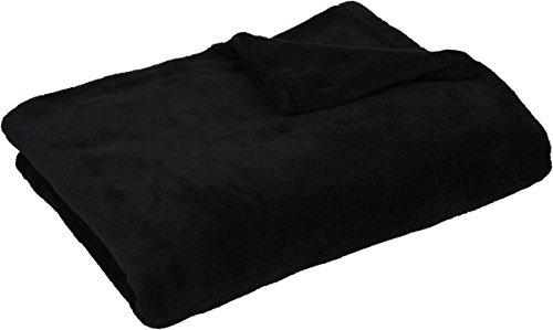 Kuscheldecke Tagesdecke XL ca. 290g/m² supersoft, flauschig und anschmiegsam in vielen versch. Farben erhältlich ( schwarz / 130x170cm ) (Mikrofaser-sofa-bett Schwarze)