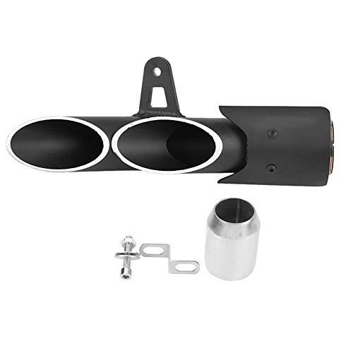 kkmoon Dual Pipes en acier inoxydable Pot d/échappement queue tubes Silencieux astuces