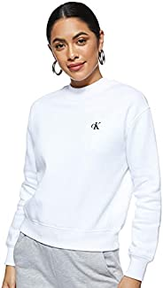 Calvin Klein womens CK EMBROIDERY REGULAR CREW NECK Sweatshirt