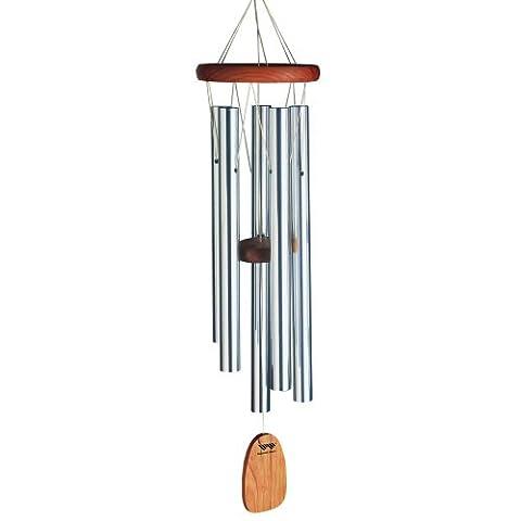 Woodstock Windspiel Chimes of Bali, Silber, 63,5 cm - Casa Finch Birdhouse