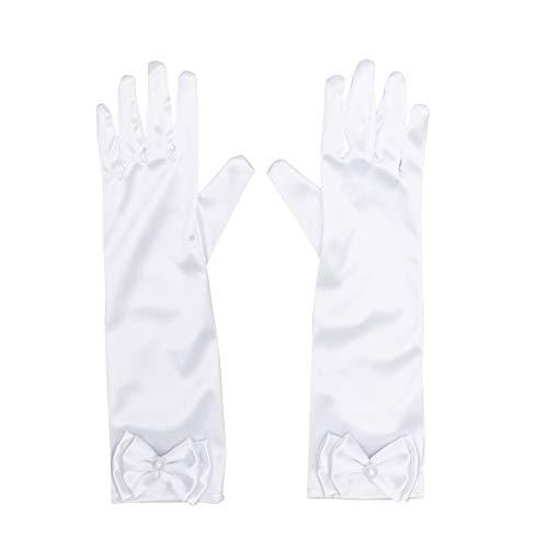 TOYANDONA 1 para Lange Handschuhe Satin Bowknot Handschuhe Ellenbogen Länge Handschuhe für Hochzeit Abend ()