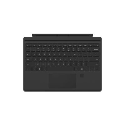 Microsoft Surface Pro Type Cover mit Fingerprint ID (Kompatibel mit Surface Pro 6/Pro/Pro 4/Pro 3, LED-Hintergrundbeleuchtung,Qwertz Tastatur) schwarz