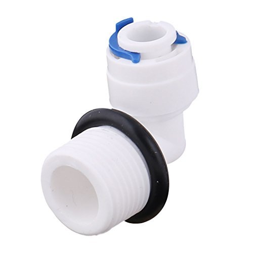 DealMux plastique Distributeur d'eau Coude Adaptateur de connecteur rapide mâle de filetage 3/8BSP