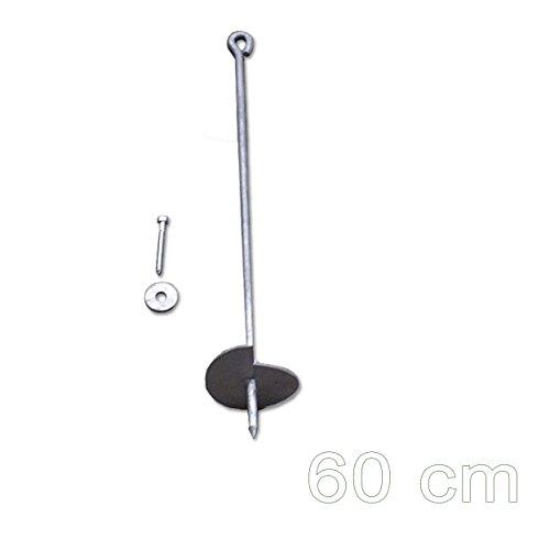 Preisvergleich Produktbild Bodenanker eindrehbar für Schaukel etc. 60 cm verzinkt von Gartenpirat®