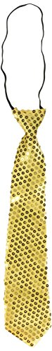 Boland 52951 - Krawatte Spangles, Circa 40 cm, Gold