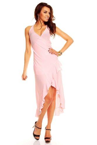 24/7 Fashionloft Neckholder Salsa kleid Latina Partykleid Sommerkleid Discokleid Rosa - Neckholder Salsa