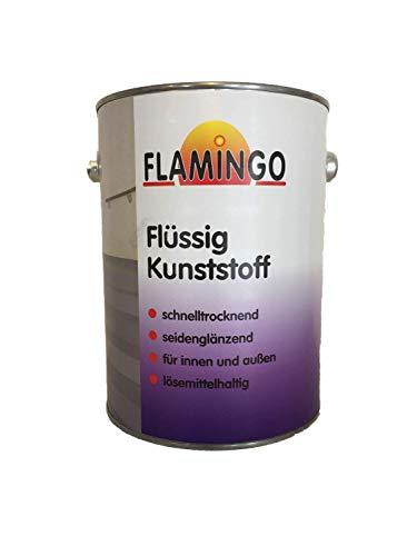 Flamingo Flüssig Kunststoff Innen/Außen seidenglänzend RAL 9010 reinweiß 2,5 Liter - Titandioxid Eisen