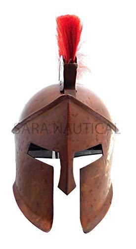 Sara Nautical Brass Casco Antiguo Estilo Armadura Medieval King Leonidas Griego Spartan 300 Romano