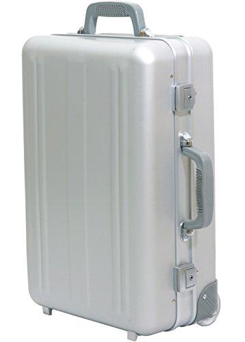 Boardtrolley Boardcase mit Trolley Kurzeisetrolley Aluminiumtrolley Kabinentrolley Aluminium Silber Kabinengepäck