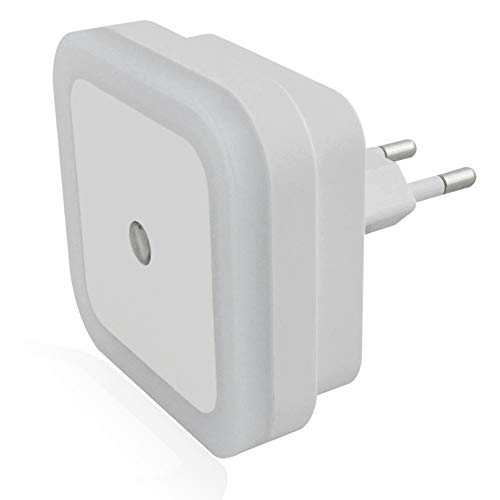 SOAIY 4pcs Veilleuse / Lampe de Nuit LED de 0,5W Automatique avec Capteur de Lumière pour Chambre d'Enfant / Toilette / Entrée / Escalier / Couloir / Passage (Lumière Blanche)