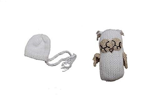 Matissa Neugeborenes Baby Mädchen/Jungen häkeln Stricken Kostüm Fotografie Prop Outfits (Eule und Hut Set - Baby Eule Kostüm Mädchen