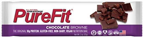 PureFit Nutrition Bar, Chocolate Brownie, 56 g (Pack of 15) [Kohlenhydrate] (Pure Bar-chocolate Brownie)