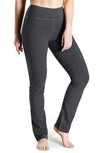 Yogipace Damen Yoga-Hose, 68,6 cm/73,7 cm/78,7 cm/88,9 cm/94 cm, gerades Bein, Rückentaschen, für jeden Körpertyp, Damen, Charcoal(no Rear Pockets), 35