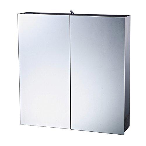 Homcom LED Spiegelschrank Badspiegel Schrank Badezimmer Edelstahl 60x11x60cm