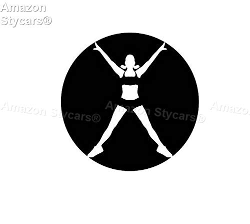 Price comparison product image Stycars® Car Stickers,  [11.1 * 11.1Cm] ''Letter X Energetic Girl Skillful'' Decal Vinyl Car / Window Stickers