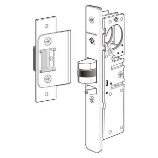 Adams Rite 4510-36 Standard Duty Deadlatch For Aluminum Stile Doors (1-1/8 Backset) by Adams Rite ASSA ABLOY